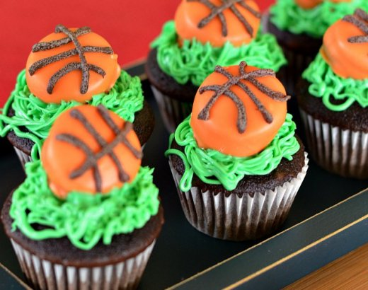 Mini Basketball Cupcakes Recipe