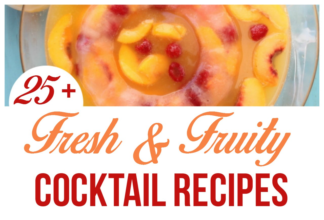 25 fun and fruity cocktail recipes for Fruity mixed alcoholic drink recipes