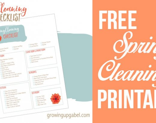 Spring Cleaning Checklist ~ FREE Printable
