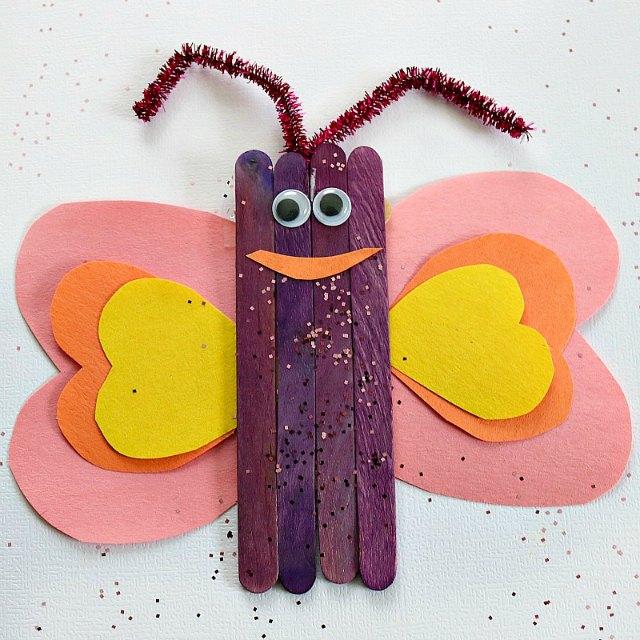 Kids butterfly craft