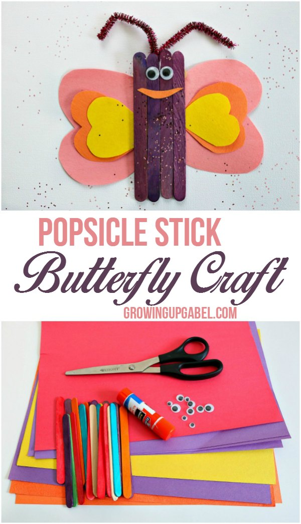 Popsicle Stick Butterfly Craft