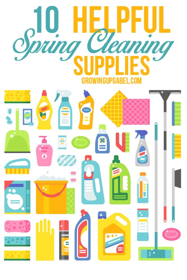 Need Spring Cleaning Tips? Check out this list of spring cleaning supplies to help declutter!
