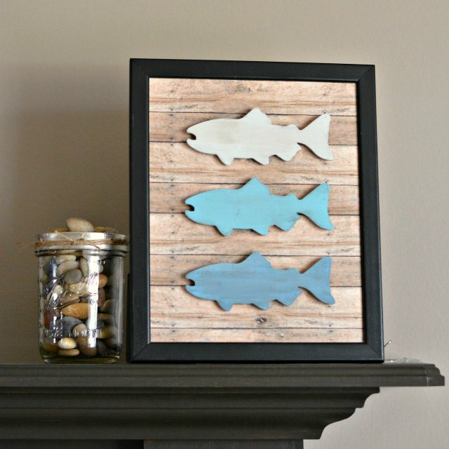 DIY Rustic Fish Frame