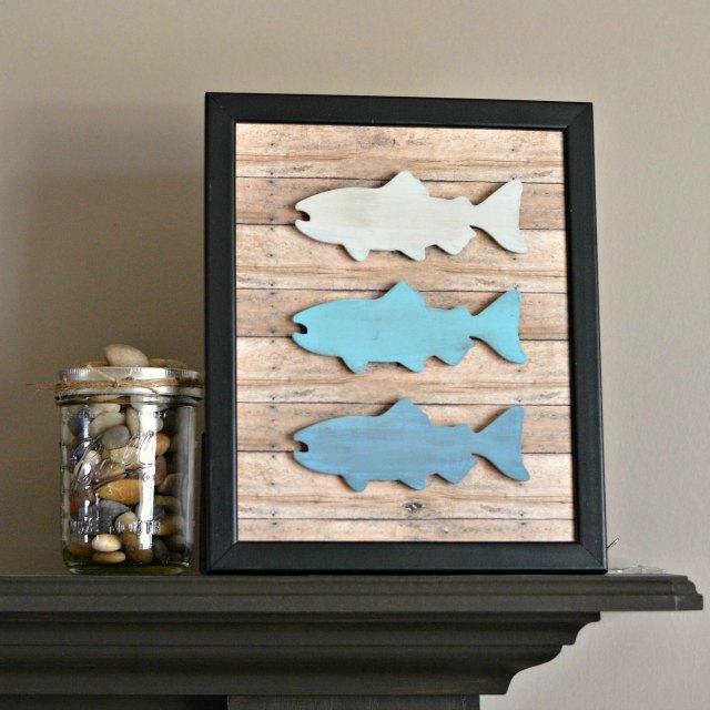 DIY Rustic Fish Frame