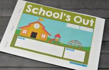 School memory book printable
