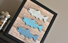 Wood Fish Frame