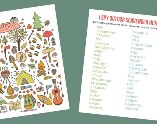 Camping I Spy Game Printable