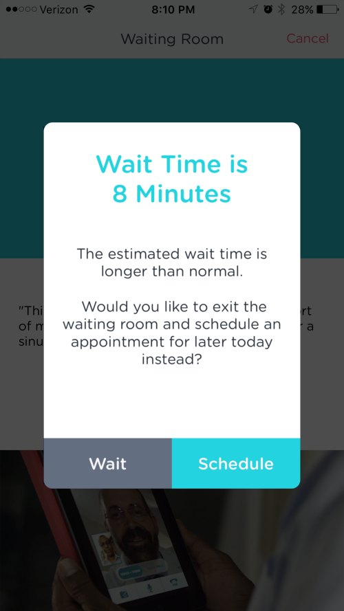 Doc on Demand wait time