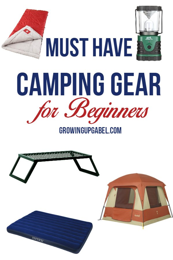 Start camping with this list of useful camping gear for beginners! Don't buy too much - but don't be left without something important, either, when you use this handy list!