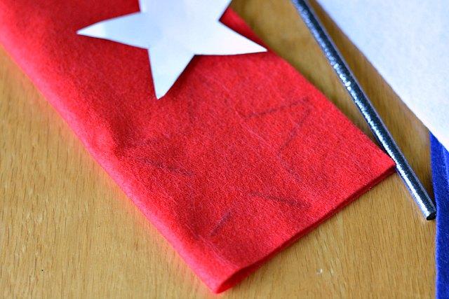 No sew star banner