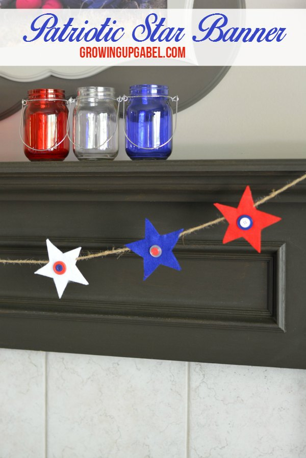Patriotic Star Banner from felt