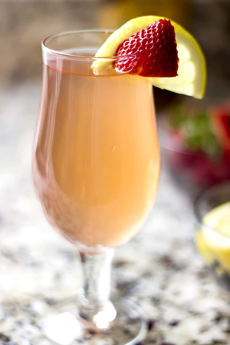 Strawberry Lemonade Bourbon Cocktail Recipe Growing Up Gabel