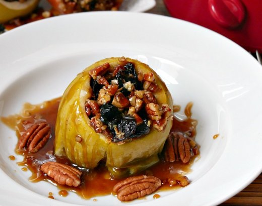 Pecan Caramel Slow Cooker Baked Apple Recipe