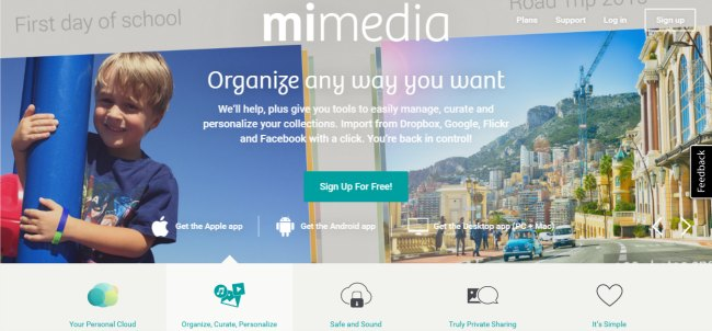 MiMedia is a personal cloud that helps keeps photos organized!