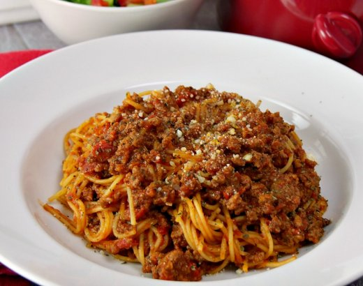 Slow Cooker Spaghetti with Meat Sauce