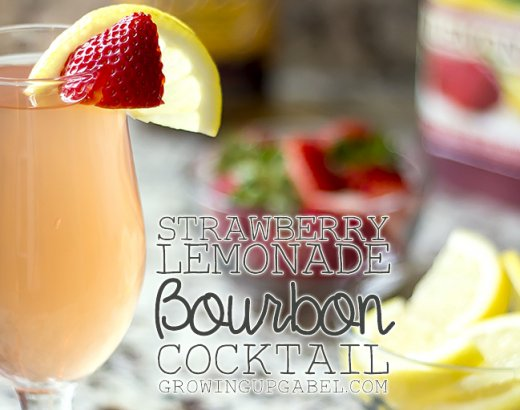 Strawberry Lemonade Bourbon Cocktail Recipe