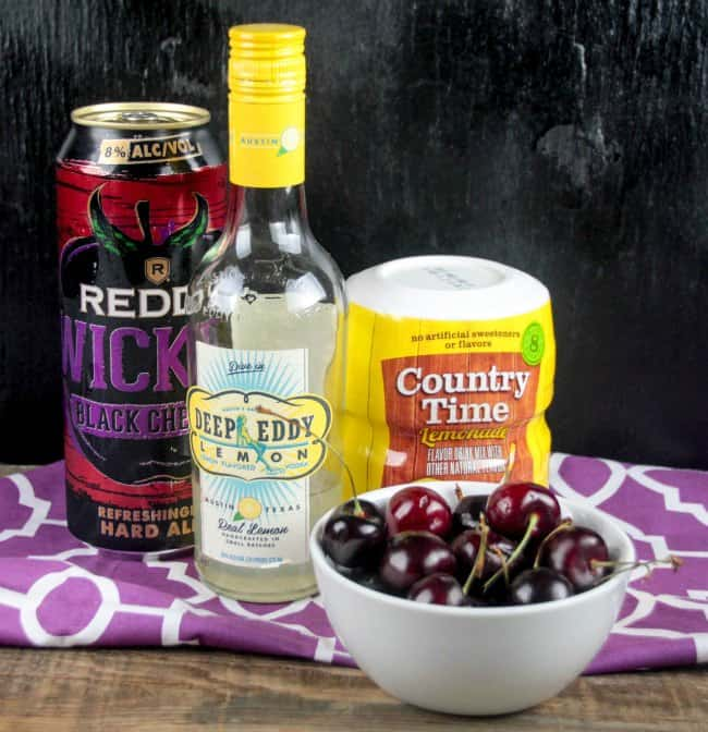 Black Cherry Lemonade Cocktail