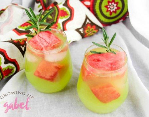 Double Watermelon Vodka Lemonade Cocktail