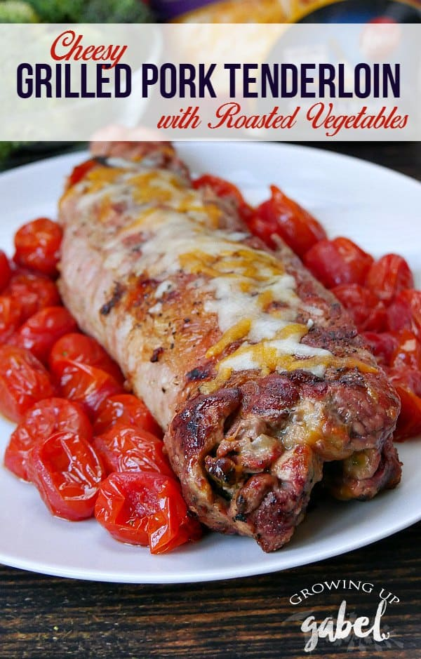 Grilled Pork Tenderloin Stuffed with Vegetables