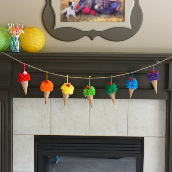Ice Cream Yarn Garland