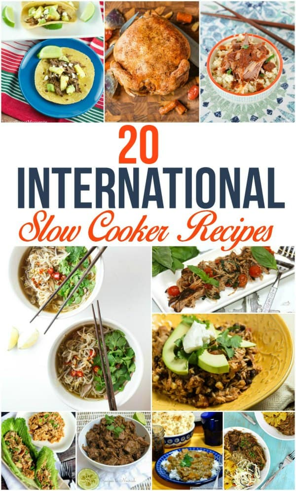 Use your slow cooker to make international recipes! From Chinese to curry to comfort foods, these international flavors are all made in the Crock Pot.