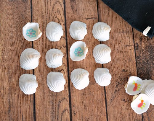 Seashell Memory Game for Kids
