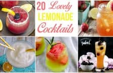Check out 20 lovely and delicious lemonade cocktails! From fruity to frozen with vodka and rum, these easy cocktail recipes will make your summer sweeter!