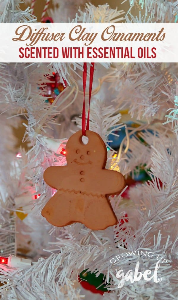 No bake Christmas ornaments are a great kids craft! Use air dry clay and cookie cutters to make fun Christmas ornaments. Add essential oils to create an oil diffuser Christmas ornament.