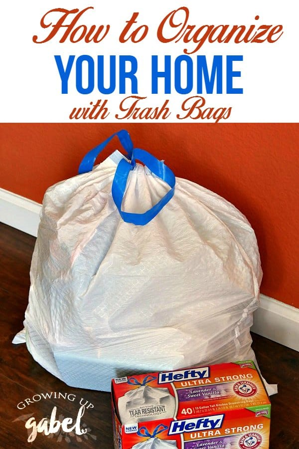 Organize Home with Trash Bags