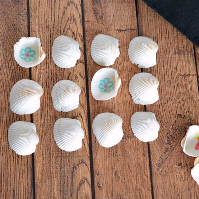Kids love memory games and this DIY memory game is made with seashells.