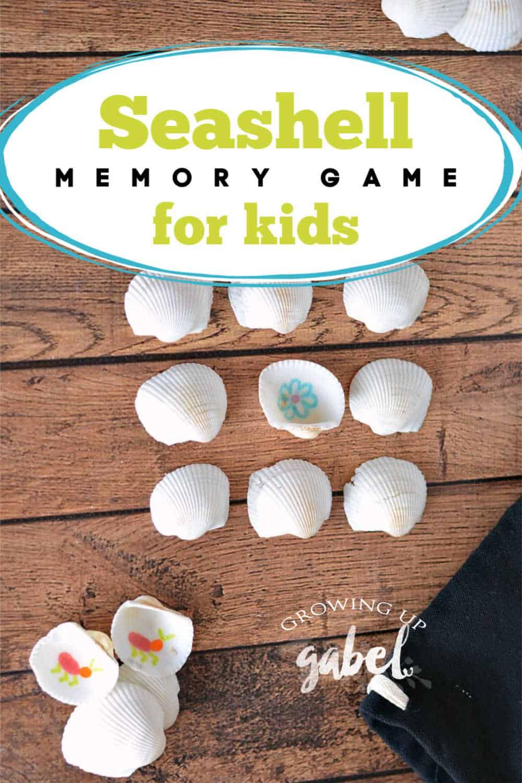 Seashell Memory Game for kids