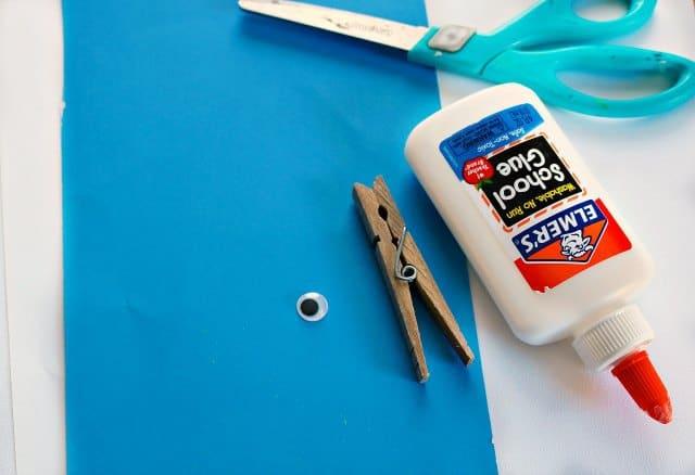 Shark Clothespin Craft Supplies