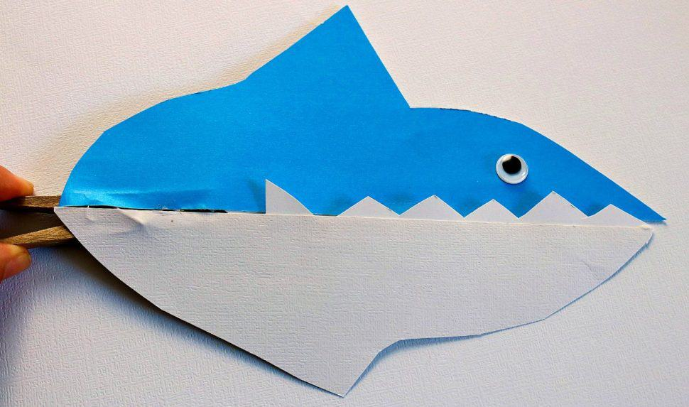 Shark Clothespin Craft For Kids