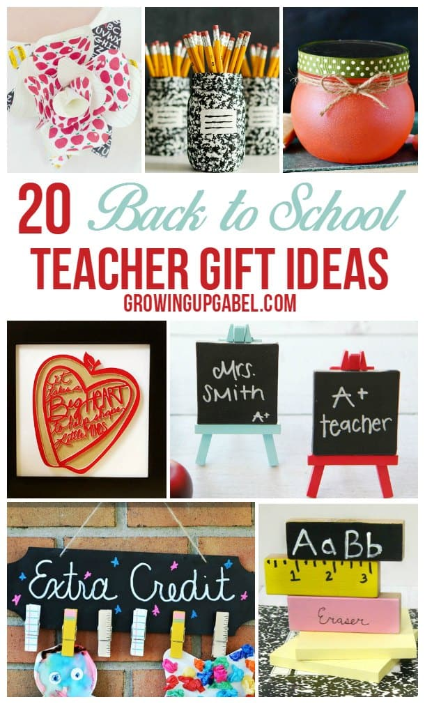 Need DIY Teacher Gift Ideas? These easy projects are great for back to school, teacher appreciation or an end of the year gift! From fun to functional, you'll find a homemade way to say thank you to your teachers!