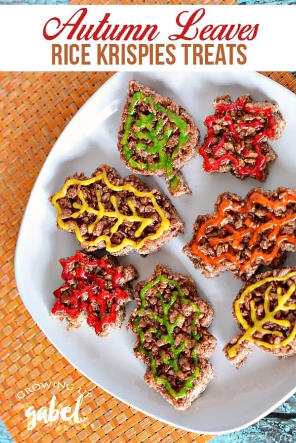 Autumn Leaves Rice Krispies Treats