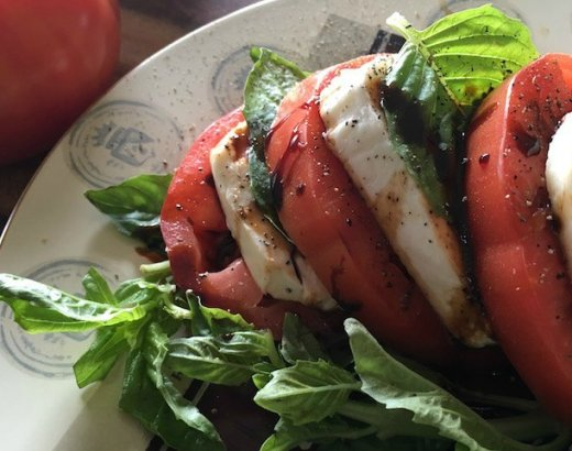 Classic Caprese Salad with Balsamic Reduction Glaze