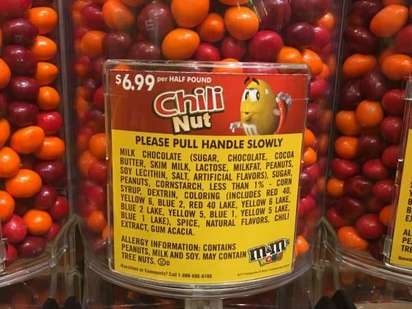Chili Nut M&Ms