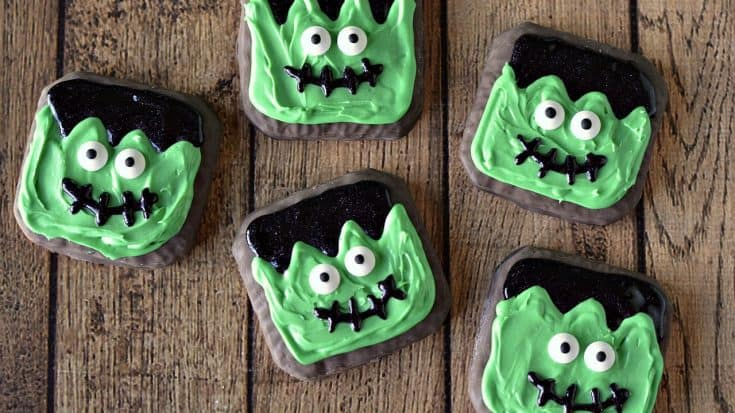 Easy Frankenstein Halloween Decorated Cookies