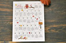 Take advantage of cooler weather for some fall activities for kids! Print out this calendar and pick your favorite fall activities, from crafts to volunteering, to do as a family. Lots of fun ideas for kids, toddlers, schools, tweens and even teens!