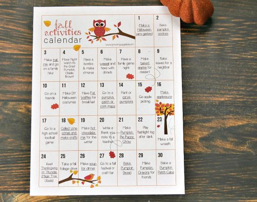 30 Days of Fall Activities for Kids and Families