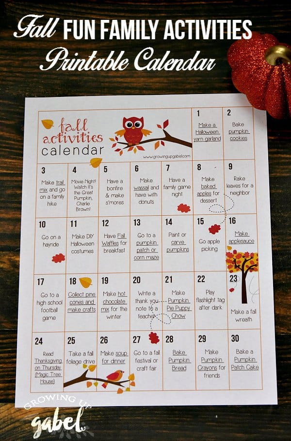 Children S Calendar Ideas : Days of fall activities for kids and families