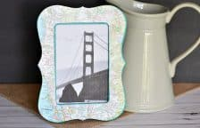Mod Podged Map Picture Frame