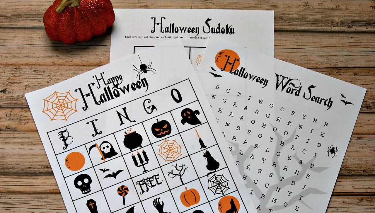 FREE Printable Halloween Party Games!