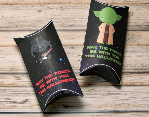 Star Wars Halloween Printable Pillow Boxes