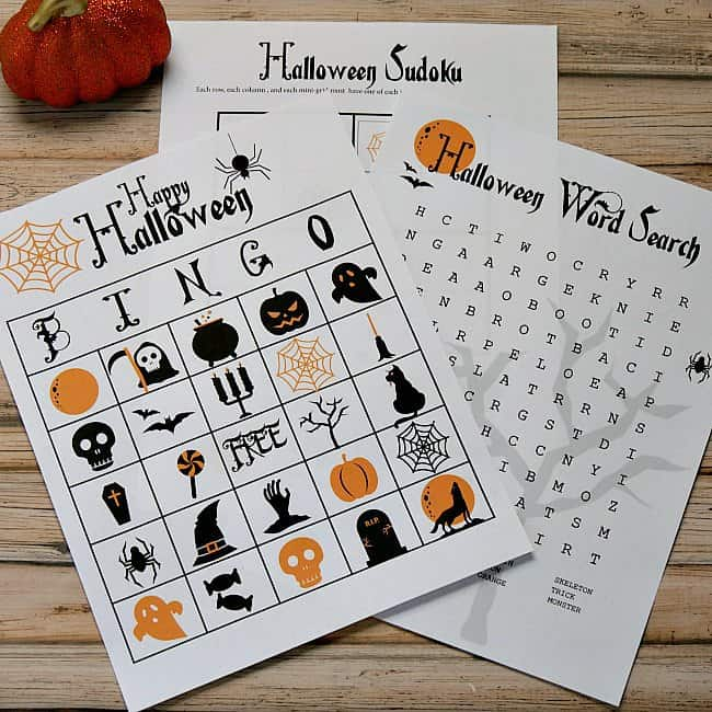 image about Free Halloween Bingo Printable named Printable Halloween Functions for Youngsters