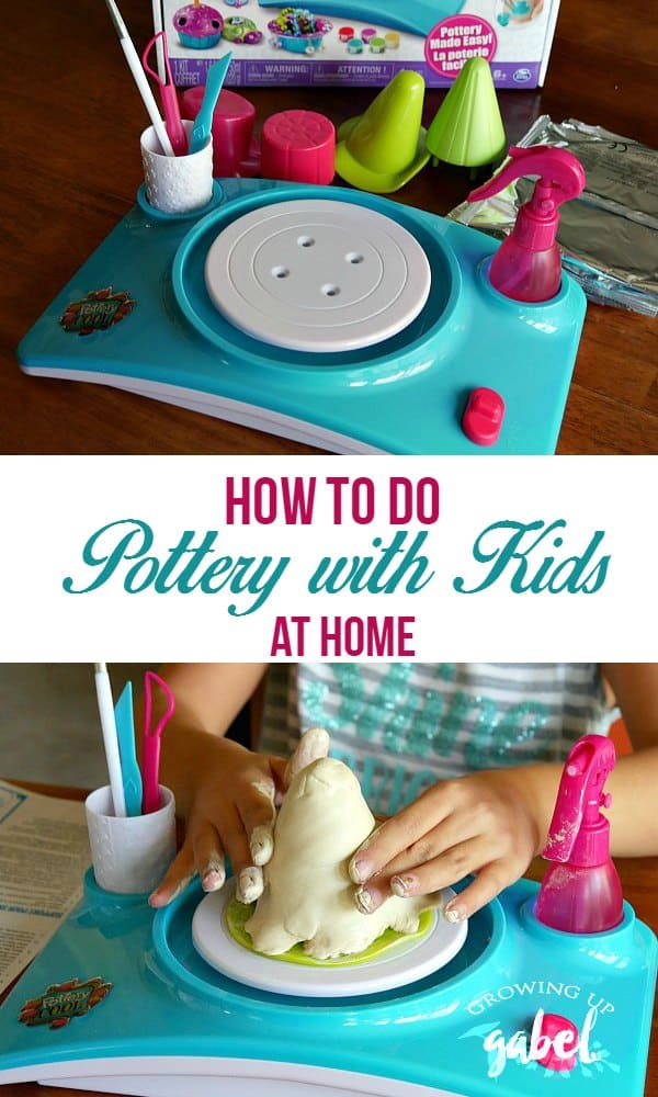 The Pottery Cool pottery wheel makes easy pottery for kids activities. Complete with wheel, tools, paint and enough clay and instructions to make 6 projects. This is great for children who love DIY and making gifts!