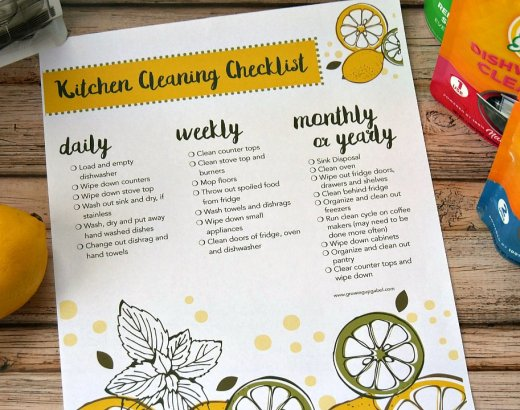Kitchen Cleaning Checklist for Busy Moms