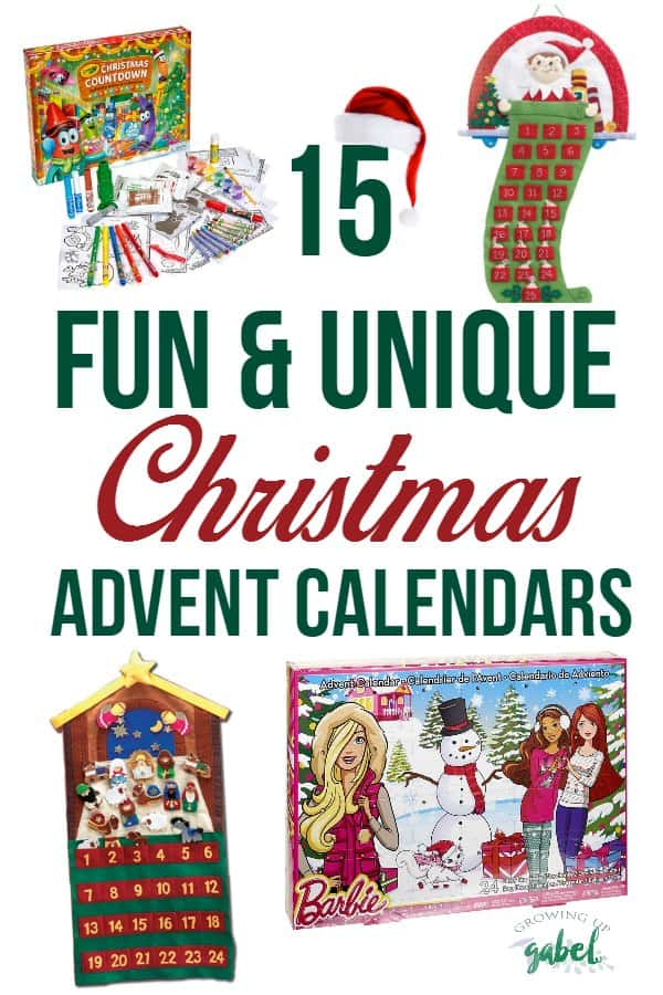 Countdown the days to Christmas with these fun and unique Christmas advent calendars for kids and families.  Find calendars with a Christian nativity theme, Barbie, LEGO, Elf on the Shelf, Crayola and more!