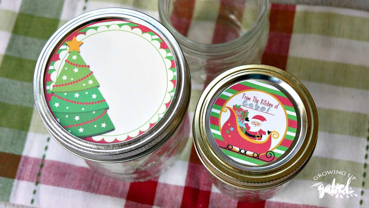 photograph about Free Printable Mason Jar Lid Labels referred to as Cost-free Printable Mason Jar Labels for Xmas Presents