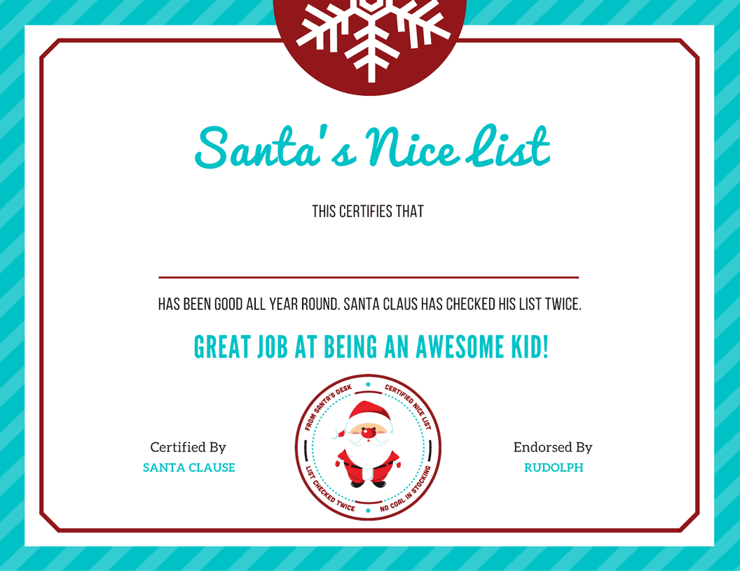 letter to santa template nice list certificate letter to santa template nice list certificate